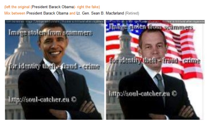 Barrack Obama image abused by Scammers